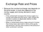 exchange rate and prices