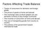 factors affecting trade balance