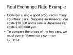 real exchange rate example