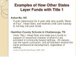 examples of how other states layer funds with title 1