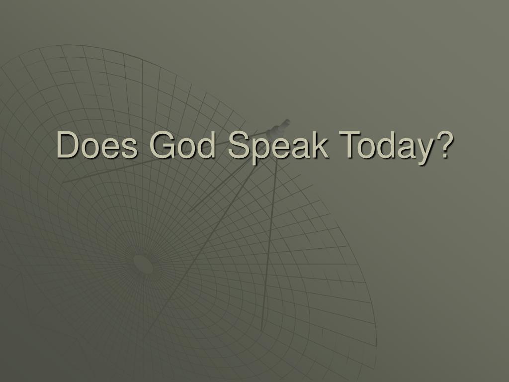 does god speak today l.