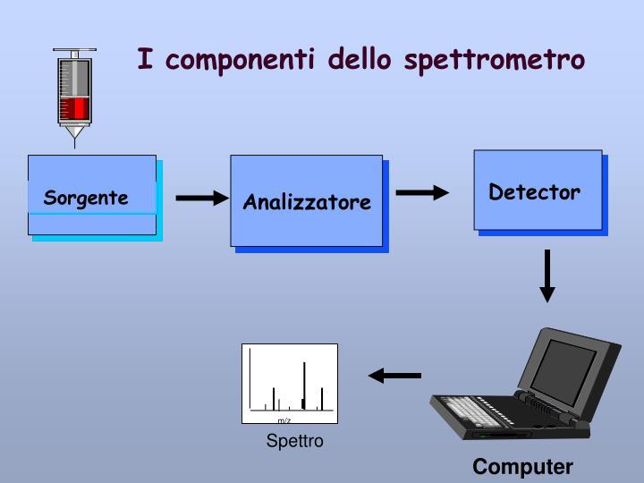 I componenti dello spettrometro