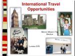 international travel opportunities