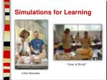 simulations for learning