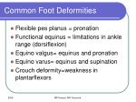common foot deformities