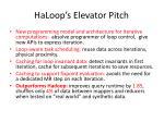 haloop s elevator pitch