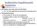 auditorische inspektionszeit ergebnisse