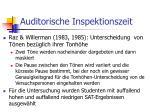 auditorische inspektionszeit