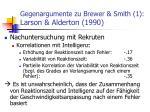 gegenargumente zu brewer smith 1 larson alderton 1990