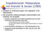 inspektionszeit metaanalyse von kranzler jensen 1989