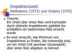 inspektionszeit nettlebeck 1973 und vickers 1970