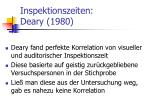 inspektionszeiten deary 1980