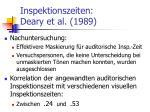 inspektionszeiten deary et al 1989