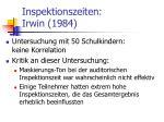 inspektionszeiten irwin 1984
