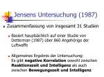 jensens untersuchung 1987