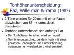 tonh henunterscheidung raz willerman yama 1987
