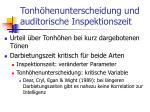 tonh henunterscheidung und auditorische inspektionszeit