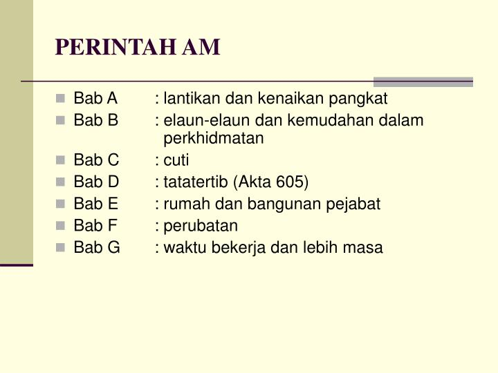 Ppt Perintah Am Bab E Powerpoint Presentation Free Download Id 715425