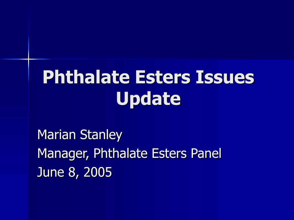 phthalate esters issues update l.