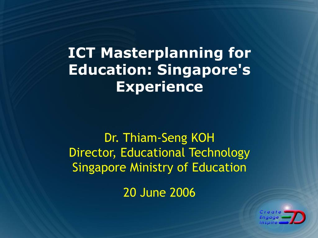 ict masterplanning for education singapore s experience l.
