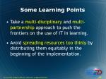 some learning points28