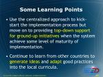 some learning points29