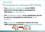 the proposal for extension ip c w 353