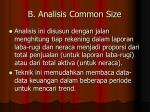 b analisis common size