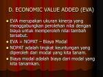 d economic value added eva