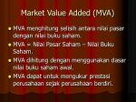 market value added mva