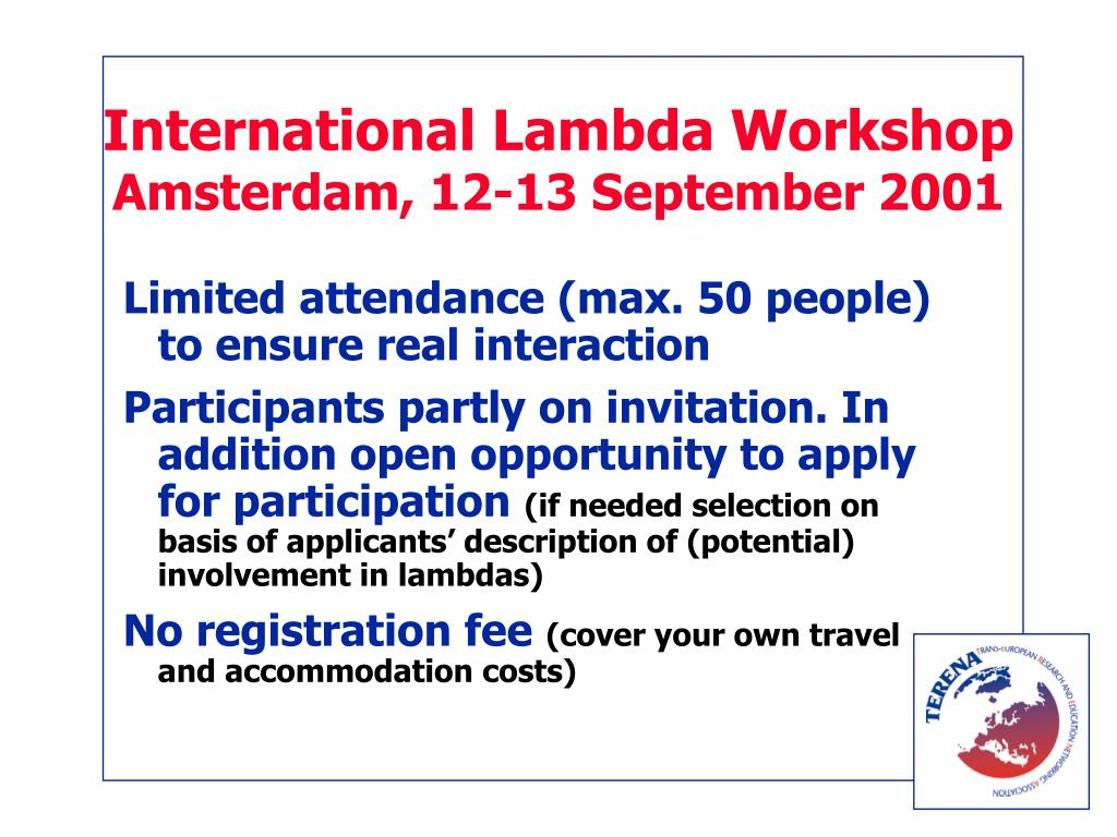International Lambda Workshop
