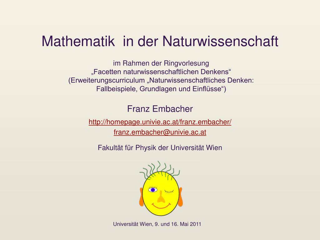 mathematik in der naturwissenschaft l.