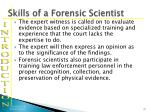skills of a forensic scientist11
