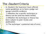 the daubert criteria
