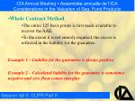 cia annual meeting assembl e annuelle de l ica considerations in the valuation of seg fund products14