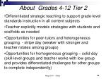 about grades 4 12 tier 2