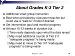 about grades k 3 tier 2