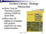 content literacy strategy resources71