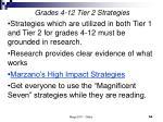grades 4 12 tier 2 strategies