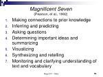 magnificent seven pearson et al 1992