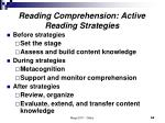 reading comprehension active reading strategies