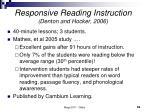responsive reading instruction denton and hocker 2006