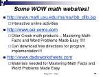 some wow math websites