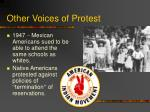 other voices of protest