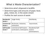 what is waste characterization