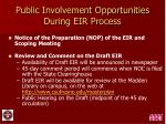 public involvement opportunities during eir process