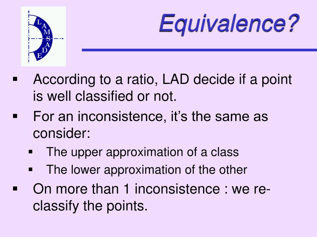 Equivalence?