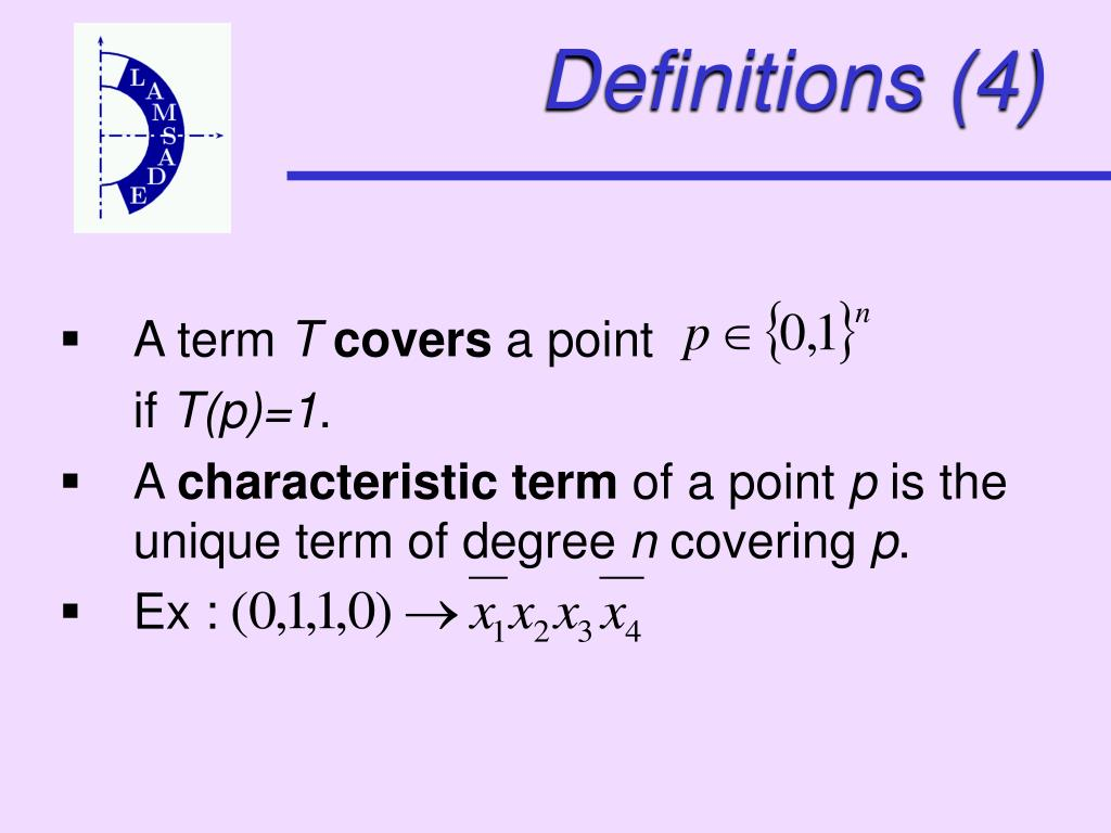 Definitions (4)