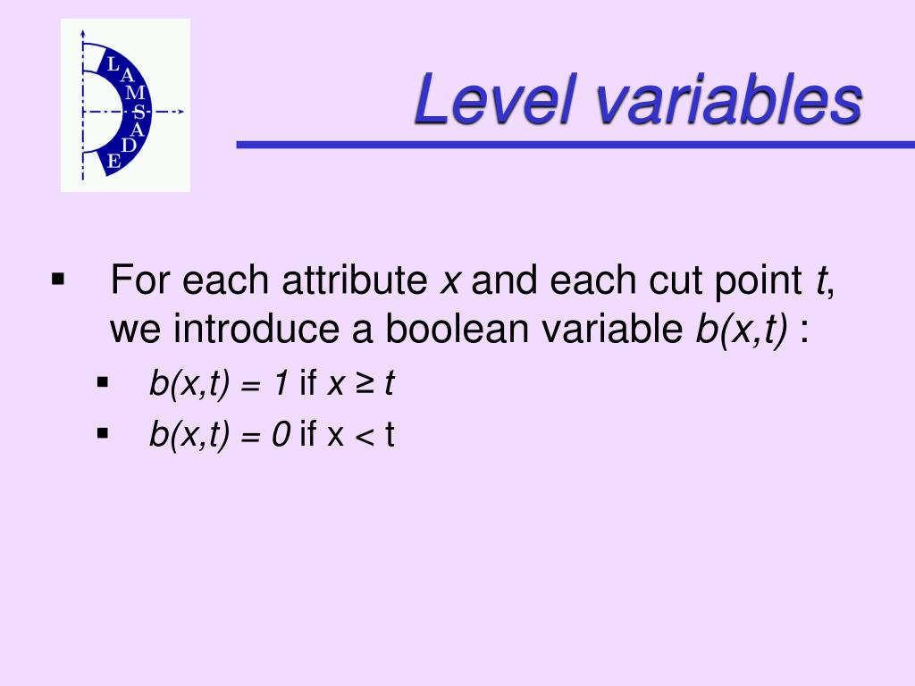Level variables