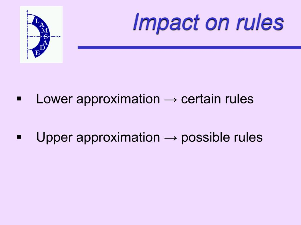 Impact on rules